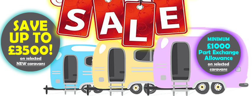 Sale Now ON!!! Save on selected caravans NOW