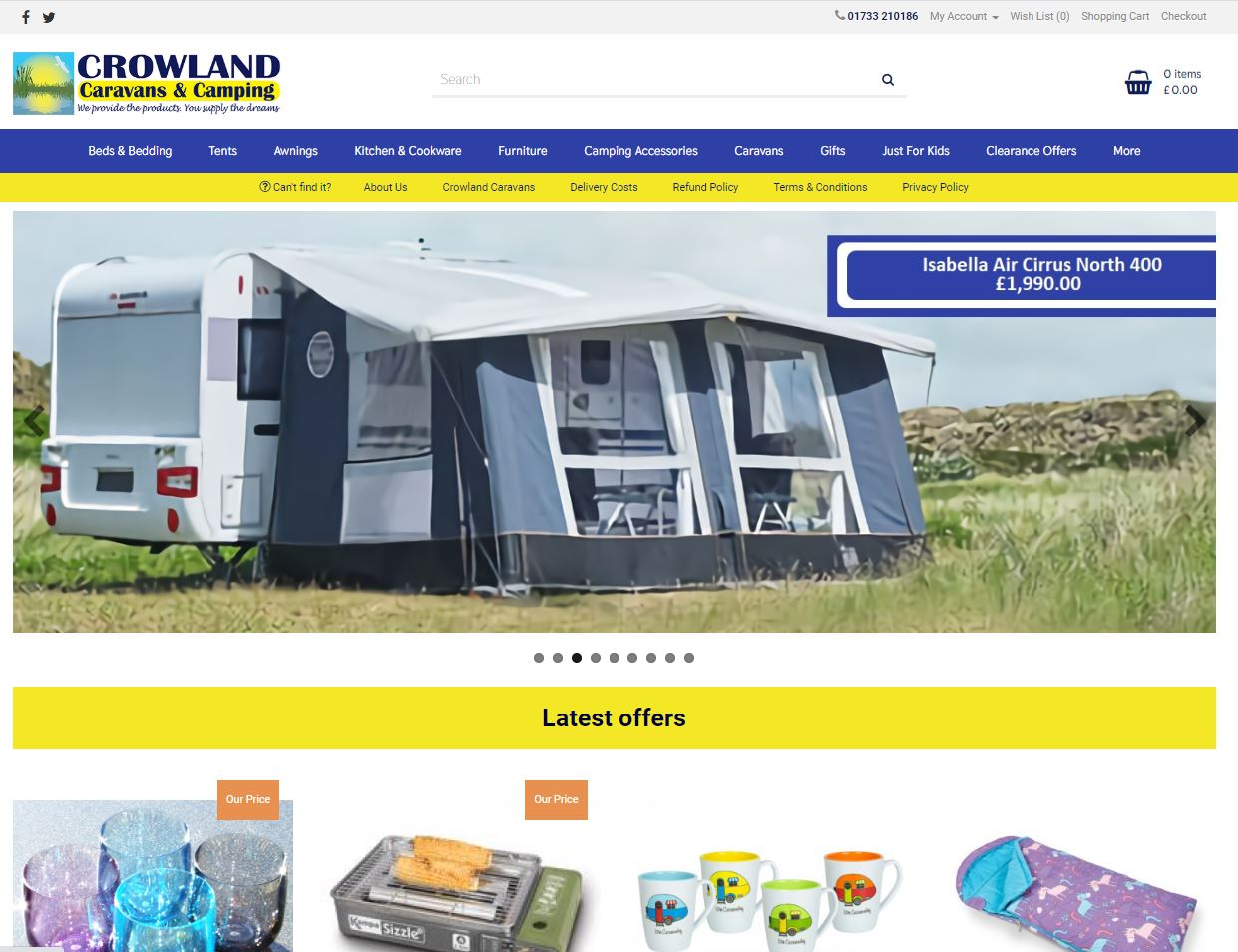 Crowland Camping for shopping online